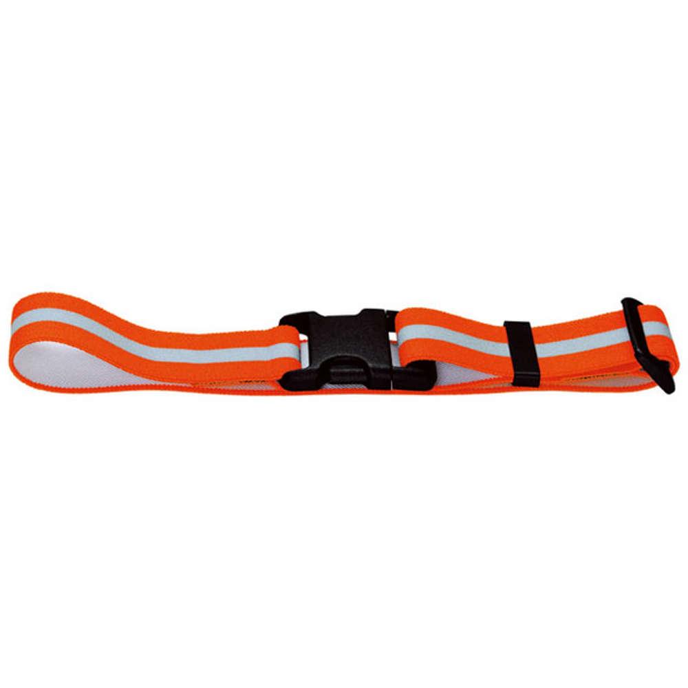 HUNTER Warnband mit Steckverschluss, reflektierend (orange), elastisch - Hundezubehoer