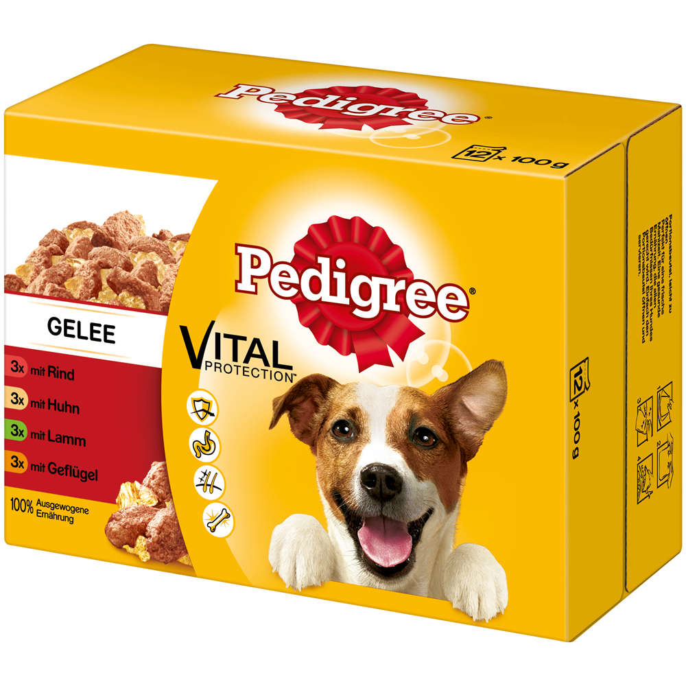 PEDIGREE Portionsbeutel Multipack in Gelee 12X100g