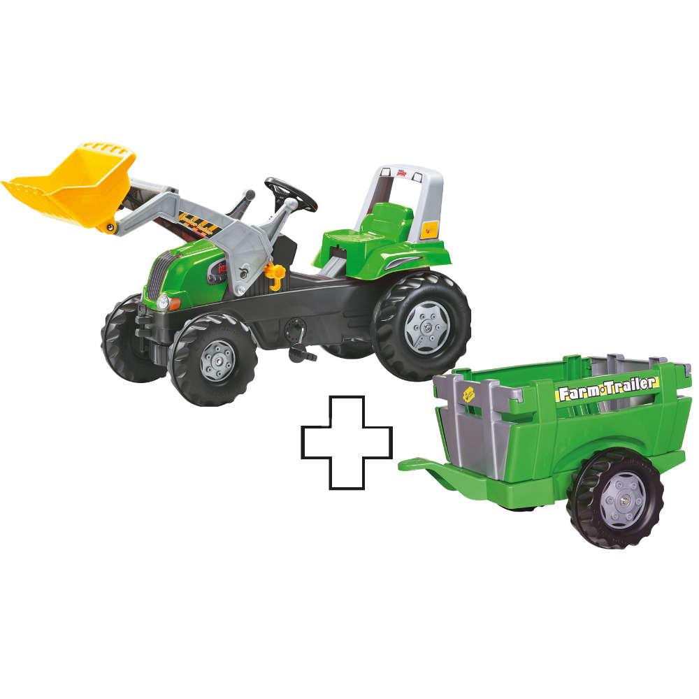 Grafik für Rolly Toys Junior grün mit Frontlader und Anhänger in raiffeisenmarkt.de