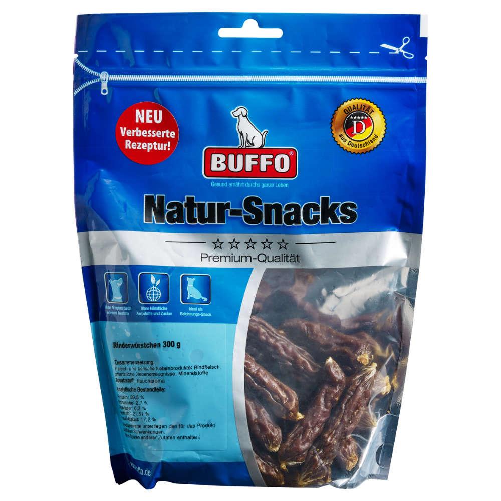 BUFFO Natur-Snack Rinderwürstchen - Kauartikel - einfach und bequem online bestellen auf raiffeisenmarkt24.de