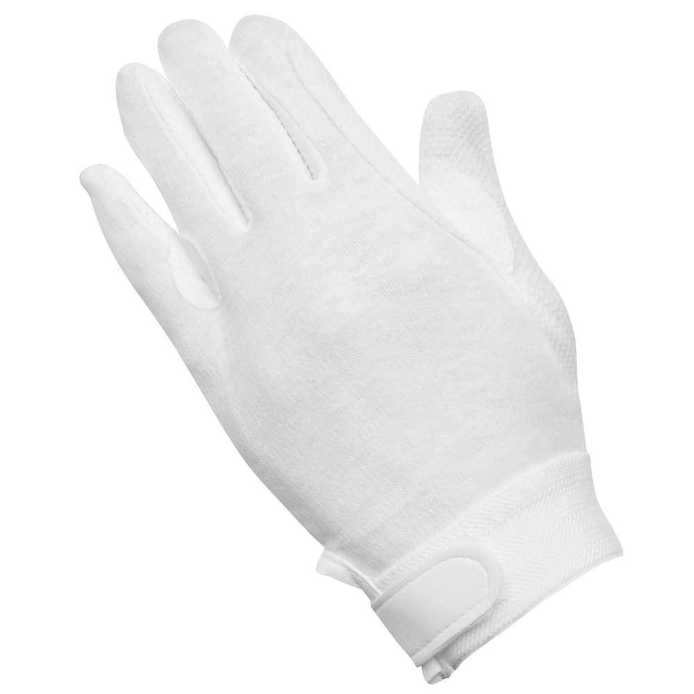 KANTRIE Classic Baumwollhandschuhe, weiß - Reithandschuhe
