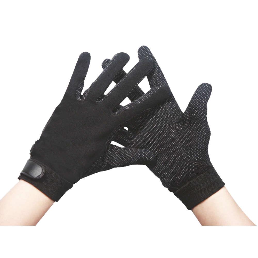 KANTRIE Classic Baumwollhandschuhe, schwarz - Reithandschuhe