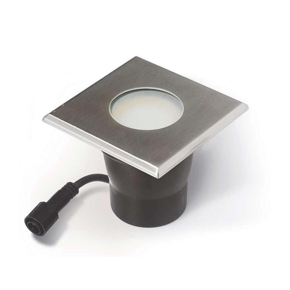 EASY CONNECT Einbaulicht für Holzboden ww 10x10cm,IP 67,MR20
