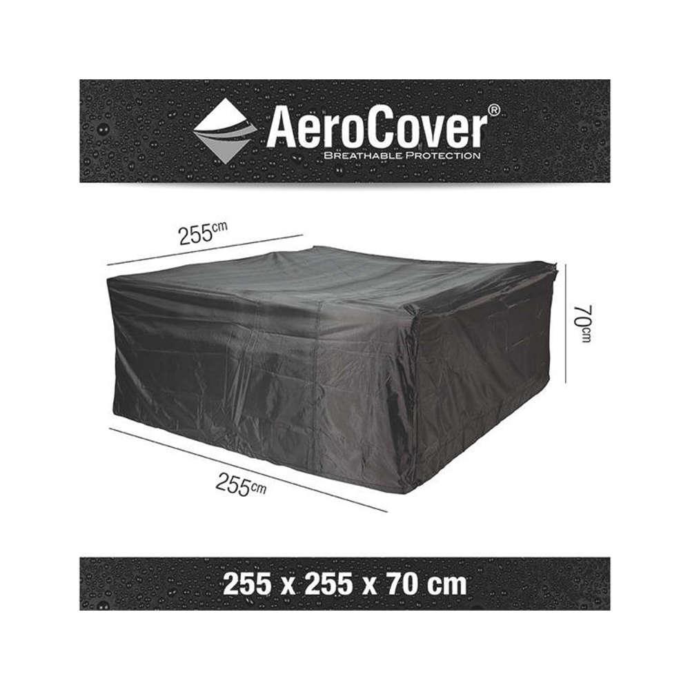 AEROCOVER Atmungsaktive Schutzhülle für Lounge-Sets 255x255x70 cm