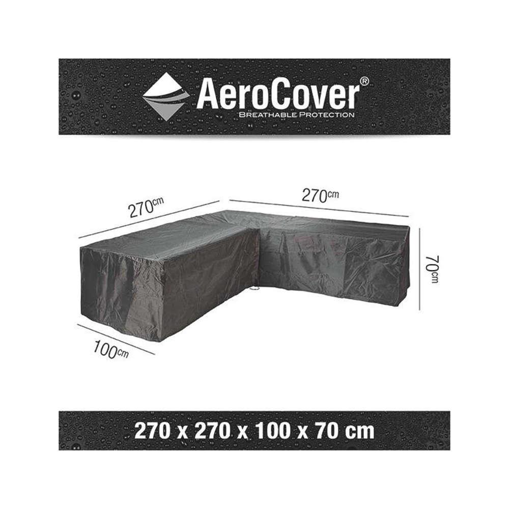 AEROCOVER Atmungsaktive Schutzhülle für Lounge-Sets 270x270x100xH70 cm L-Form