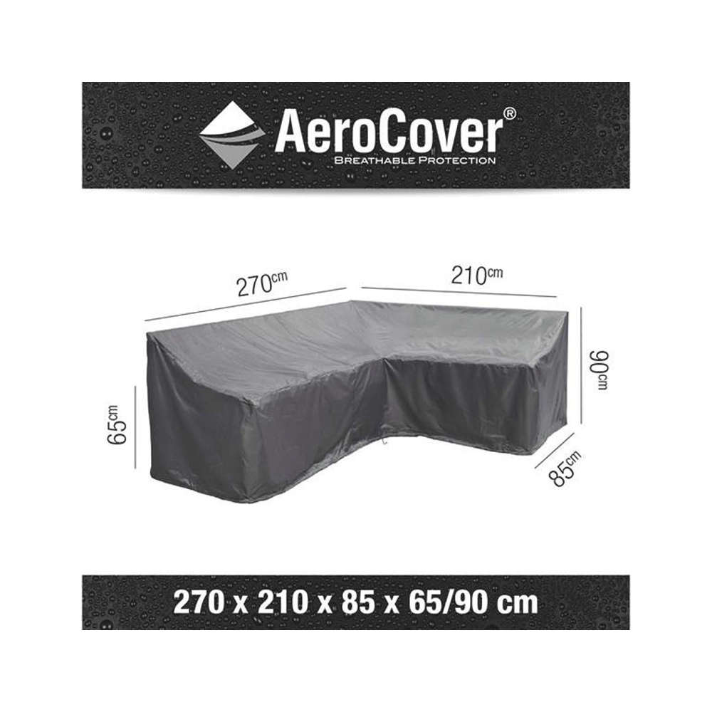 AEROCOVER Atmungsaktive Schutzhülle für Lounge-Sets 270x210x85xH65/90 cm L-Form (rechts)