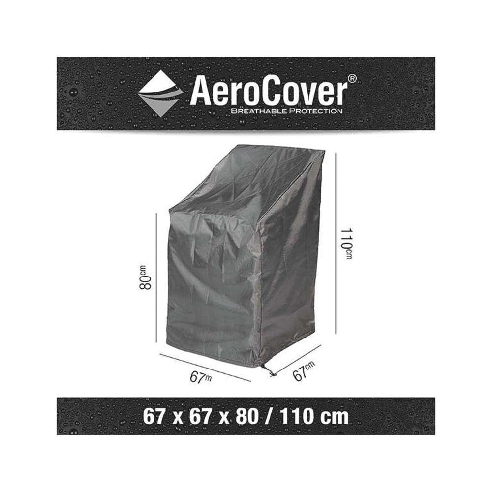 AEROCOVER Atmungsaktive Schutzhülle für Stapelstühle 67x67xH80/110 cm