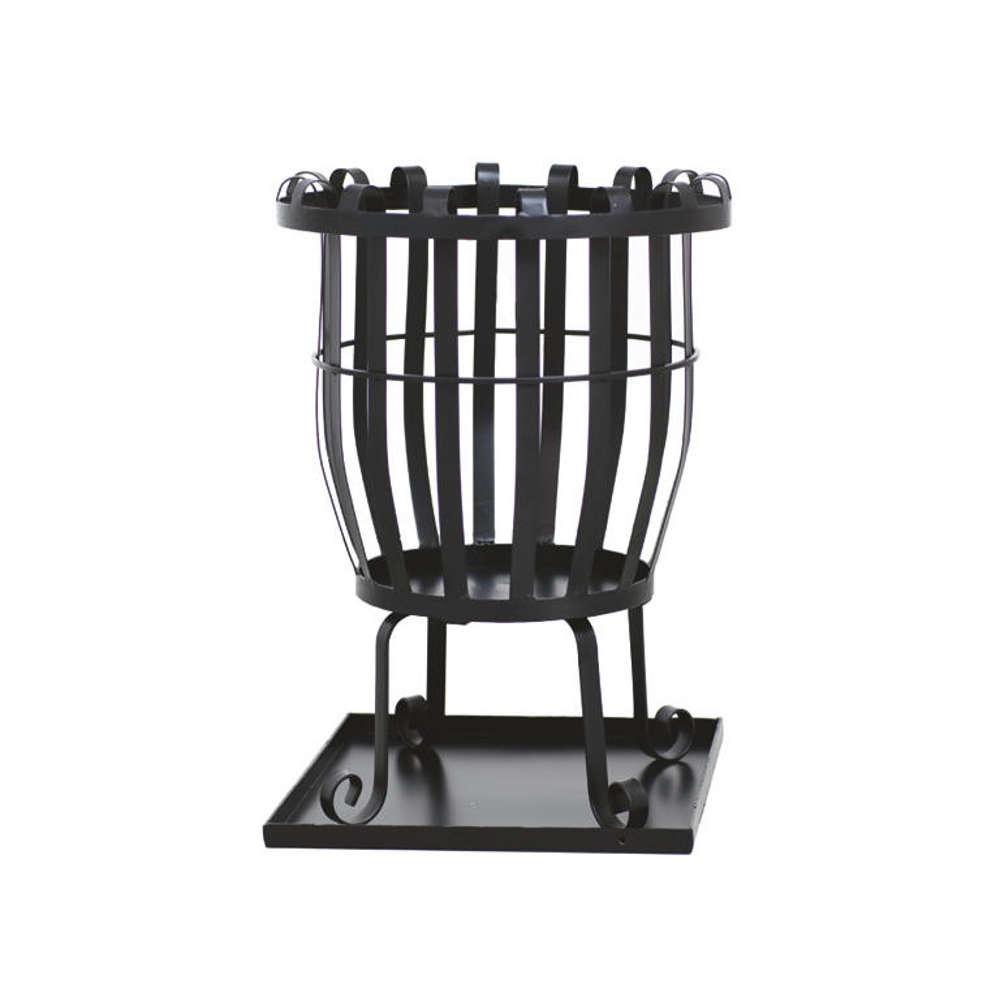 SIENA GARDEN Feuerkorb Pagia, Stahl schwarz, inklusive Aschefangblech