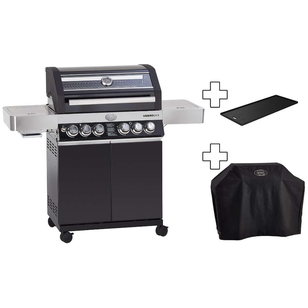 Modell 2019: Inkl. Steakzone und Kochfeld im Seitentisch. Hauptgrillfläche ist 70 x 45 cm und besteht aus emaillierten Gussrost.