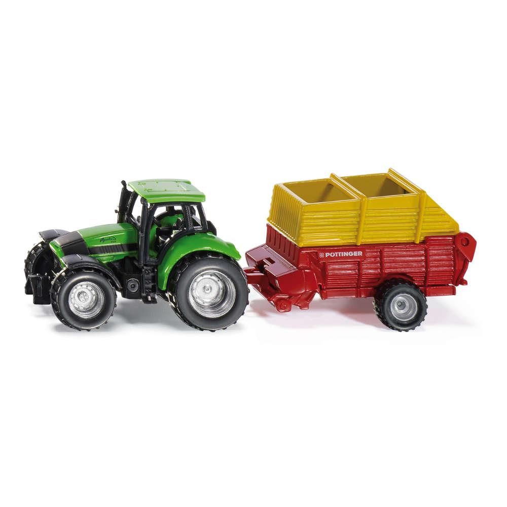 siku Traktor mit Pöttinger Ladewagen
