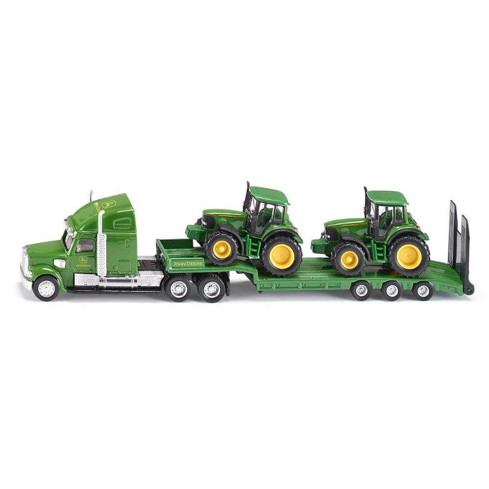 Siku Tieflader mit John Deere Traktoren