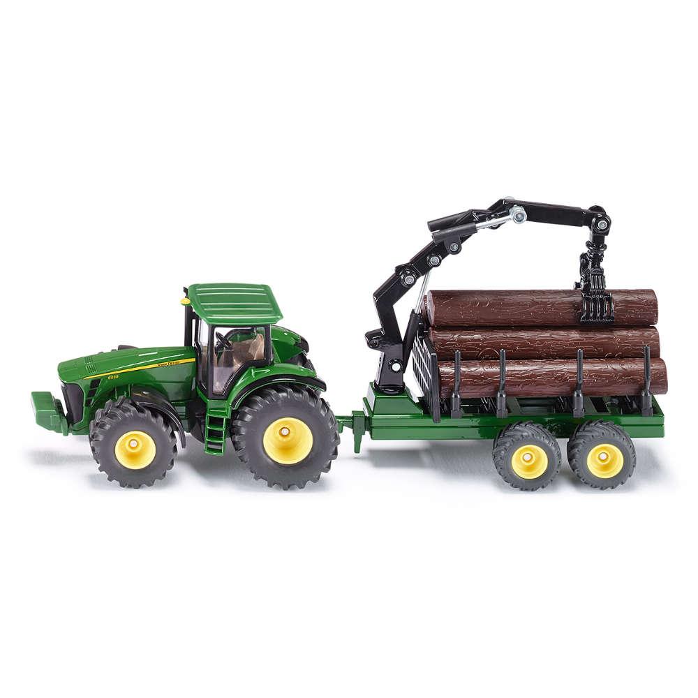 Siku Traktor mit Forstanhänger