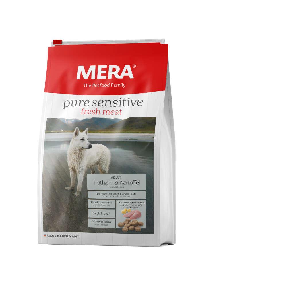 MERA Hunde Trockenfutter Pure Sensitive fresh meat Truthahn+Kartoffel