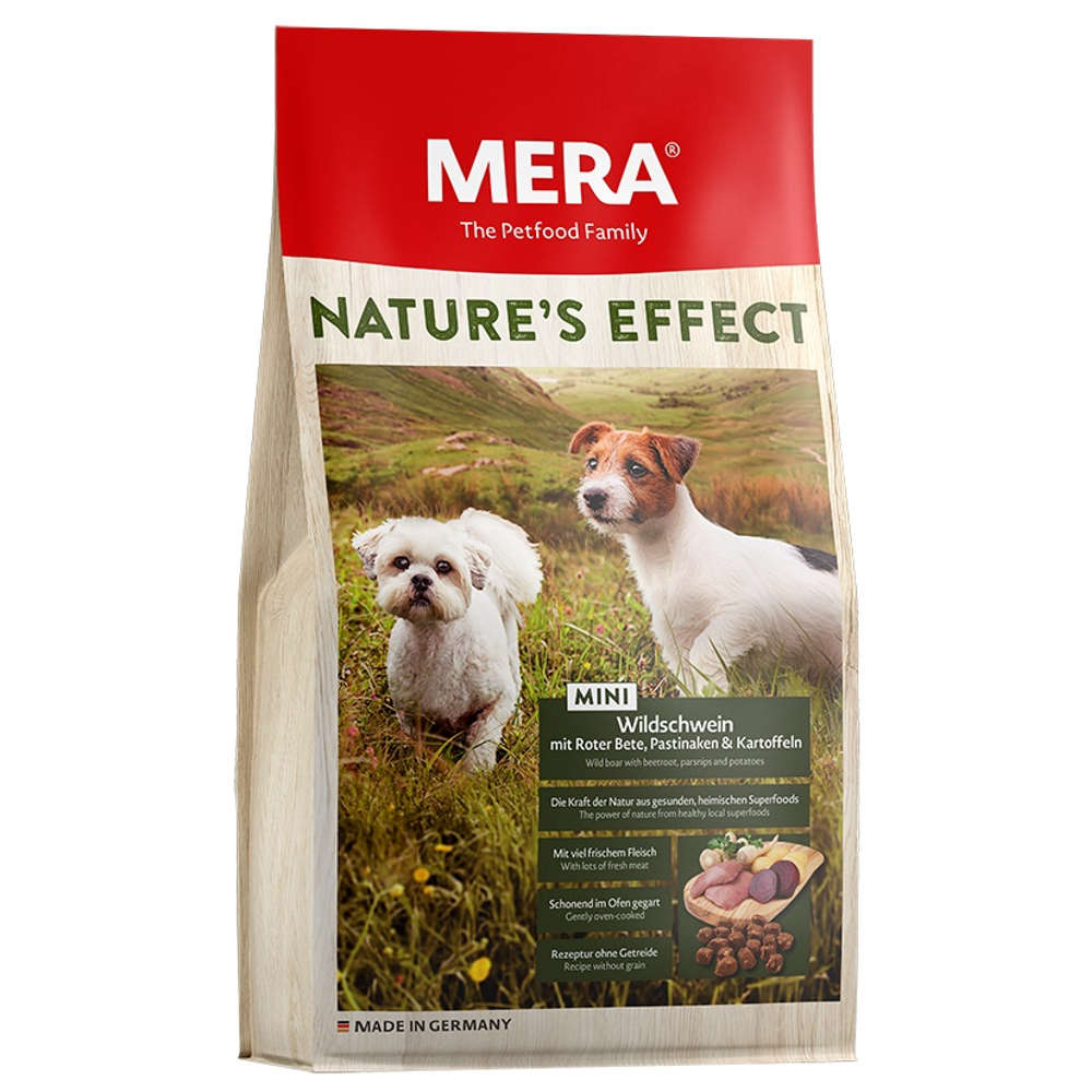 MERA Mera Hunde-Trockenfutter Natures Effect MINI Wildschwein