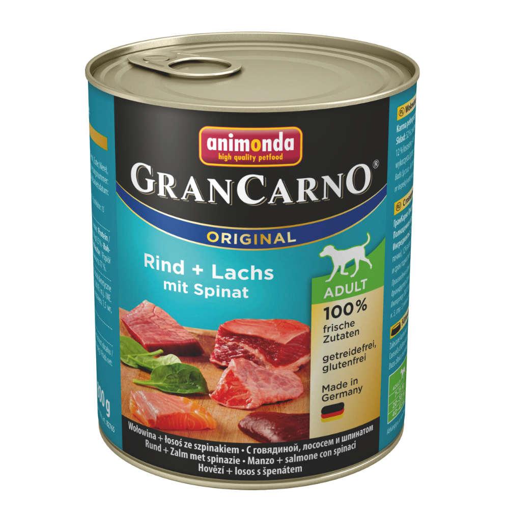 animonda GranCarno org. Adult Rind + Lachs mit Spinat