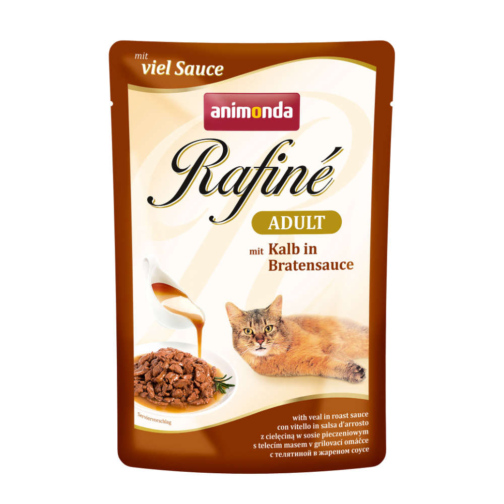 animonda Rafine Adult Kalb in Bratensauce