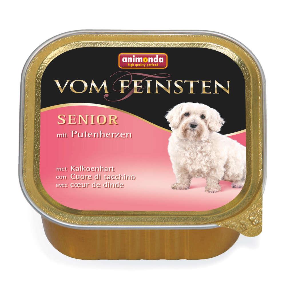 animonda Vom Feinsten Hunde-Nassfutter Senior mit Putenherzen
