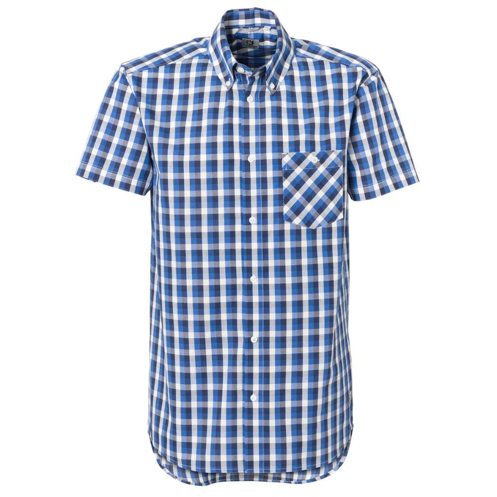C.CENTIMO Classic Hemd 1/2 blau/grau/weiss