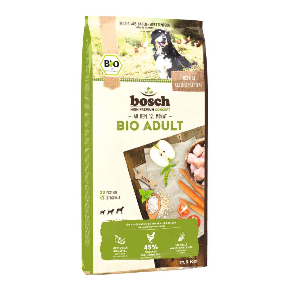 bosch Hunde-Trockenfutter BIO Adult Hühnchen+Apfel