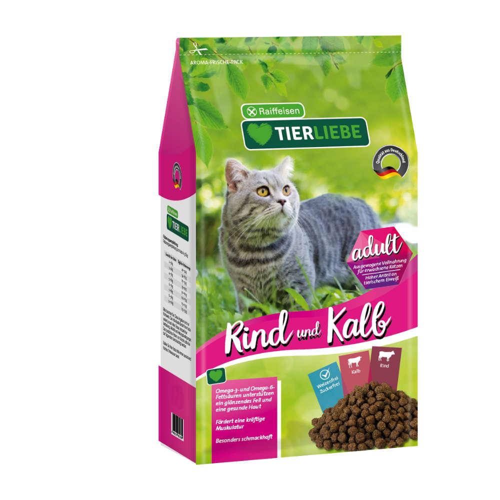 Raiffeisen TIERLIEBE Katze Kalb+Rind Adult
