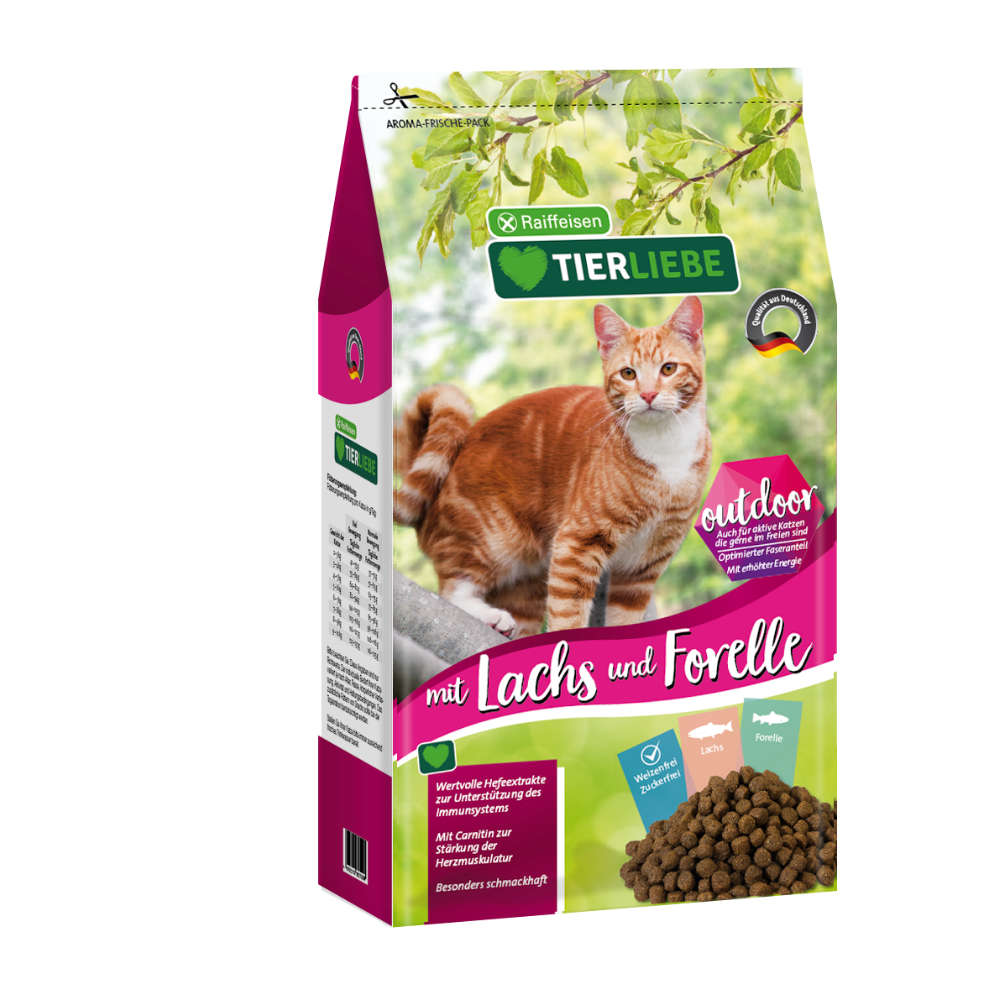 TIERLIEBE Katze Lachs+Forelle Outdoor