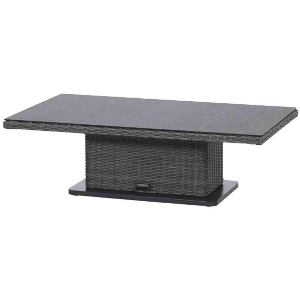 SIENAGARDEN Porto Lifttisch 75x130x40/52/65 cm
